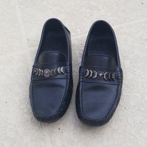 Mens versace leather slip ons